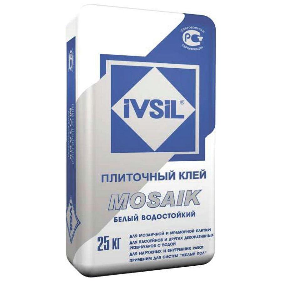 КЛЕЙ ПЛИТОЧНЫЙ IVSIL MOSAIK 25 кг